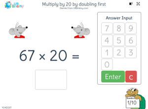 Preview of game Multiply by 20 by doubling first
