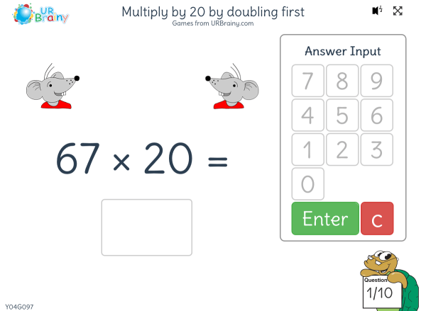 Preview of 'Multiply by 20 by doubling first'
