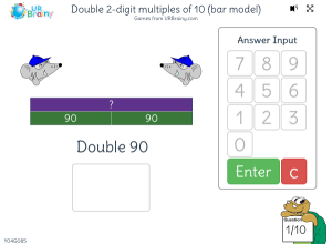 Preview of game Double 2-digit multiples of 10 (bar model)