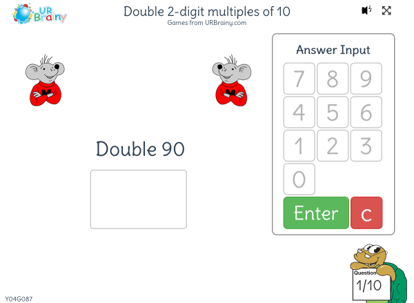 Preview of 'Double 2-digit multiples of 10'