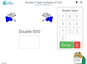 Preview of game Double 3-digit multiples of 100