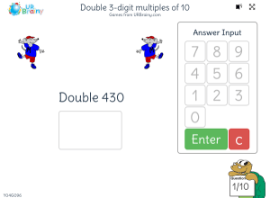 Preview of game Double 3-digit multiples of 10