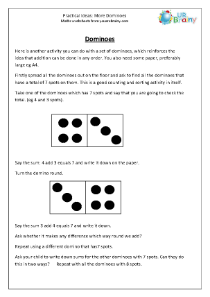 Preview of worksheet More dominoes