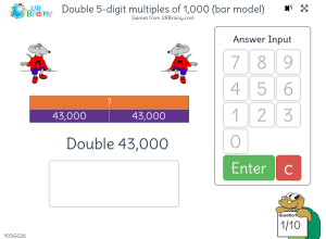 Preview of game Double 5-digit multiples of 1,000 (bar model)