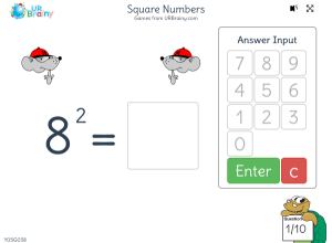 Preview of game Square numbers (2)