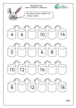 Counting Maths Worksheets for Year 1 (age 5-6)