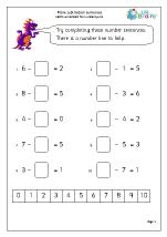 Complete subtraction sentences
