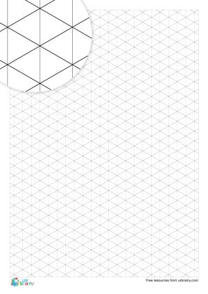 Preview of worksheet 1 cm isometric paper (black & white)