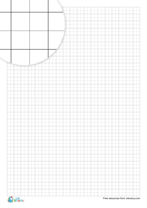 Preview of worksheet 5 mm squared paper (black & white)
