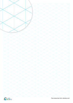 Preview of worksheet 1 cm isometric paper (blue)