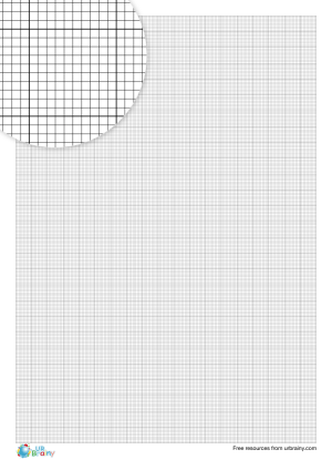 Preview of worksheet 1 mm graph paper (black & white)
