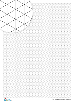 Preview of worksheet 5 mm isometric paper (black & white)