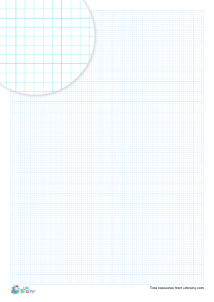 Preview of worksheet 2 mm graph paper (blue)