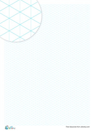 Preview of worksheet 5 mm isometric paper (blue)