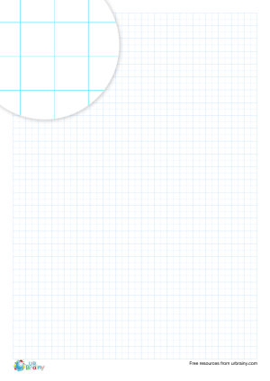 Preview of worksheet 5 mm squared paper (blue)
