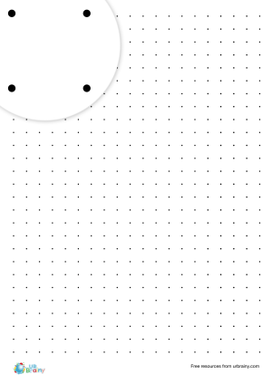 Preview of worksheet 1 cm square dotty paper (black & white)