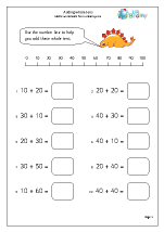 math worksheet : addition maths worksheets for year 1 age 5 6  : Addition On A Number Line Worksheet