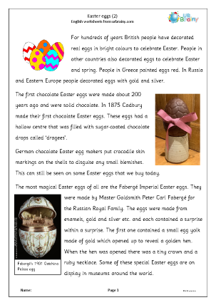 Preview of worksheet Easter eggs 2