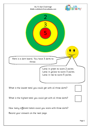 Preview of worksheet Bull's eye