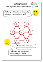 Hexagon subtraction challenge