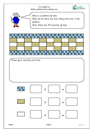 Preview of worksheet Tile patterns