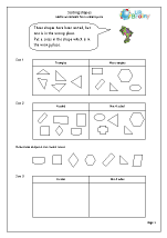 sorting 2d shapes shape and measures maths worksheets for year 1 age 5 6. Black Bedroom Furniture Sets. Home Design Ideas