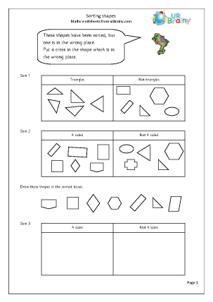 Shape Sorting Worksheet - Khayav