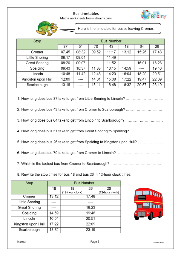 Preview of 'Bus timetables'