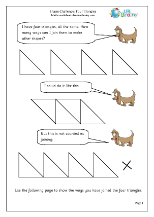 Preview of worksheet Four triangles
