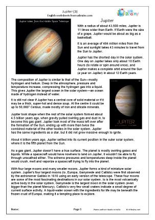 Preview of worksheet Jupiter (3)