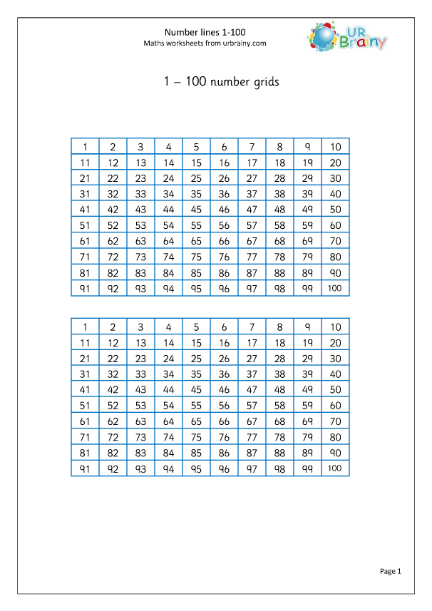 Preview of 'Number grid 1-100'