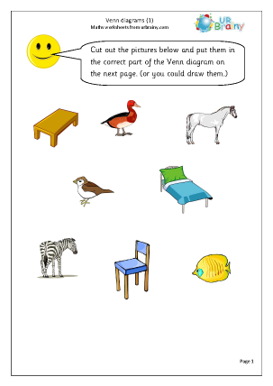 Statistics (Handling Data) Maths Worksheets for Year 1 (age 5-6)