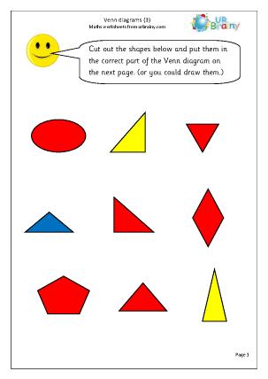 Venn Diagrams (3) Maths Worksheet