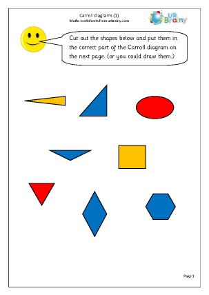 Preview of worksheet Carroll diagram (1)