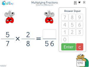 Preview of game Multiplying fractions