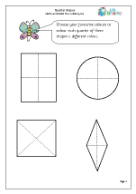 Fractions Maths Worksheets for Year 1 (age 5-6)
