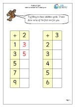 Addition grid 1