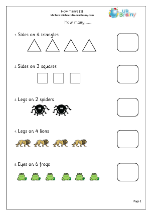 Preview of worksheet How many?