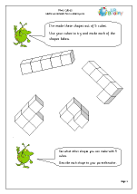Shapes from 5 cubes