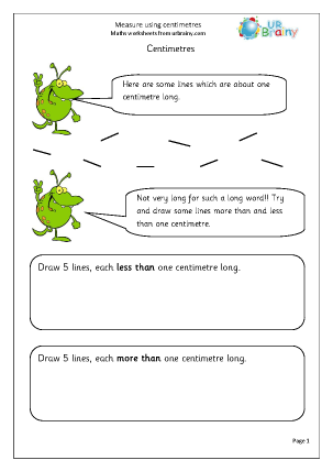 Preview of worksheet Centimetres (1)